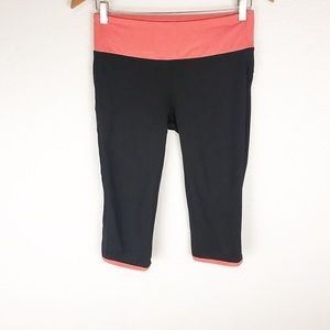 FABLETICS   Black and Pink Cropped Leggings